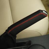 لفولكس واجن فولكس فاجن جيتا 5 غطاء فرملة اليد جلد طبيعي الديكور الداخلي لوازم السيارات ديي سيارة التصميم