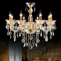 Quarto moderno vidro candelabro quarto chandelier 8 luzes luxo cristal candelabro sala de jantar 8 galho chandeliers cozinha