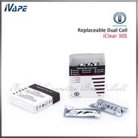 100% Original Innokin iClear 30 S Clearomizer Ersatz Doppelspulenköpfe 1,5 ohm 1,8 ohm 2,1 ohm iClear 30 S Dual Coils