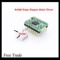 Atacado-Reprap Stepper Driver A4988 motor de passo Driver + dissipador de calor com adesivo frete grátis