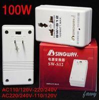 2016 nova chegada SW-S12 Huzhuan adaptador de energia AC transformador 220 V-110 V ou 110 V-220 V 100 W transformador em dois sentidos