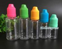 Chine Meilleur vente 5 ml 10 ml 15 ml 30 ml e liquide ejuice en plastique flacon compte-gouttes enfant preuve bouchon longue pointe avec bouchon d'étanchéité