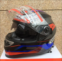 Wholesale-New arrival Motorcycle helmet open face helmet shoei full face helmet double lens knight's helmet