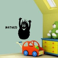 Personalizzato Nome Cartoon BARBAPAPA Wall Decor Decal rimovibile Vinile Adesivi murali Adesivo per bambini Room Decor Dimensioni 36 x 58 cm