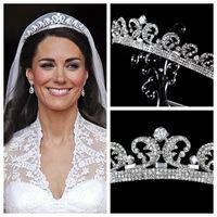 (كيت ميدلتون تيراس) ملحقات شعر (كريستال راينستون كراون) لإكسسوارات الزفاف الزجاجية (كريستال الأميرة تيراس 2015)