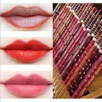 Lip Penciles Lipliners Venda Quente 28 Cores À Prova D 'Água Lábio Lápis Eyeliner Lip / Eye Liner Maquiagem Lápis Atacado Frete Grátis 0068-120mu