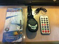 Carro MP3 Player Transmissor FM Modulador Com Controle Remoto Sem Fio USB SD MMC Frete Grátis