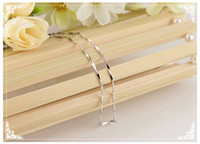 925 sterling silver oval chain necklace female Korean jewelr...