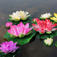 5pcs 28cm 11inches Artificial Lotus Flowers Water Lily For G...