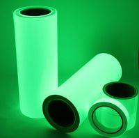 Brillante luminoso premium en la hoja de vinilo oscuro Strips reflectantes de hojas reflectantes de brillo verde 50 mm (W) * 10M (L) envío gratis
