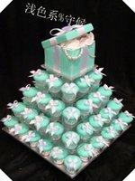 Самый Продаваемый !Площадь Ясно 5 Уровня Акриловые Свадебный Торт Кекс Демонстрационный Стенд Для Свадьбы