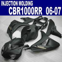 Kit de carénage en plastique de moulage par injection pour carénages HONDA CBR1000RR 2006 2007 ensemble de rechange noir mat CBR 1000 RR 06 07 AQ66