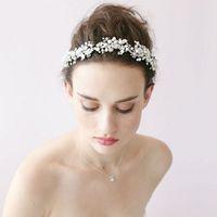 Vintage Swarovski Bridal Tiaras Hochzeit Kopfschmuck Crystal Hochzeit Haarteile Kopfschmuck Spitze dekorieren New Fashion Arabisch