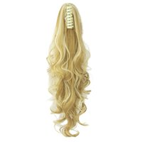 Long Curly Claw Ponytail Clip in Hair Extensions Hairpiece P...