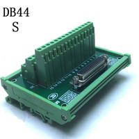 DB44 erkek / dişi terminal bloğu koparma kartı D Alt Konnektörler DIN Ray