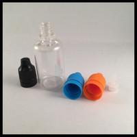 Электронная сигарета 30 мл пластиковые бутылки капельницы с защитой от детей крышка Шпалоподбойки и длинный тонкий наконечник ПЭТ пустой бутылки жидкости