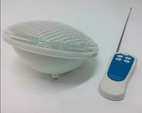 24W Par56 RGB LED ضوء بركة السباحة للماء IP68 12V تحت الماء الأضواء الكاشفة نافورة مصباح 12 فولت الاسمية 56 351 المصابيح تحكم CE روش