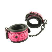 Gli strumenti del polsino SM delle caviglie per le coppie giochi adulti dei polsini della caviglia legano la catena di ritenuta dei prodotti per piacere sessuale