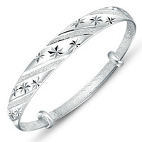925 стерлингового серебра ювелирные изделия браслеты браслеты браслет старинные раздвижные метеоритный душ Вера кленовый лист формы прелести