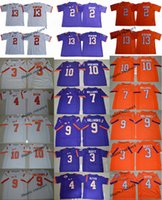 2017 Clemson Tigers 2 Kelly Bryant 13 Hunter Renfrow 4 DeShaun Watson Ben Boulware Mike Williams Gallman II Maillot de football Scott College