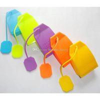 Silikon Teebeutel Form Infuser Teeblatt Silikon Sieb Lose Kräutergewürz Filter Diffusor Kaffee Tee Werkzeuge Party geschenk