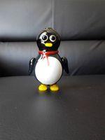 Tuyaux de verre 2015 New Creative pingouin mignon tuyau Pingouin de dessin animé de fumer en verre, noir blanc couture des tuyaux de verre