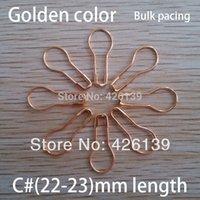 Groothandel-gratis verzending 1000 stks / partij C # 22mm lengte metalen peervormige gouden veiligheidspelden stalen broche pin 4 kleuren voor kiezen