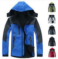 Мужская туризм водонепроницаемый / ветрозащитный north s0ftshell пальто лицо куртка размер S-XXL