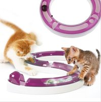 Turbo Track Cat Toy Chase Pista da pista Crazy Circle Interactive Cyclone Cat Toy