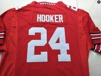 Пользовательские мужчины молодежь женщины #24 Малик Хукер штат Огайо Buckeyes футбол Джерси размер s-4XL или пользовательские любое имя или номер Джерси