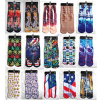New Christmas Gift 420 design 3d socks kids women men hip ho...