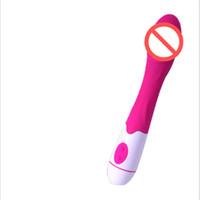 AV stick hembra vibración dispositivo de masturbación femenina mute vibrar orgasmo stick pene G juguetes sexuales adultos a prueba de agua