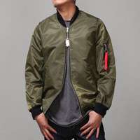 New Pilot Flight MA- 1 Jacket Men' s Green Black Bomber J...