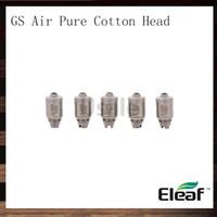 ISMOKA ELEAF 1.2OHM GS Air Ren Bomull Huvud Gsair Dual Coils Replacement Coil Head för GS Air Atomizer GS-Tank Atomizer 100% Original