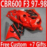 Novo bodykit preto vermelho para kit de carenagem Honda CBR 600 F3 1997 1998 CBR600F3 carenagens CBR600 F3 95 96 SOVR