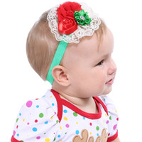 Baby Headbands Christmas Party Favor Satin Lace Headband Ela...