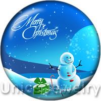AD1301056 12/18 / 20 мм оснастки на подвески для ожерелья браслета Горячие продажи DIY выводит стеклянные привязки кнопки ювелирные изделия с Рождеством дизайна Noosa
