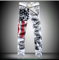 New men jeans, Painted Print jeans, Fashion jeans men jeans 1...