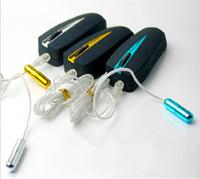 Manliga sex kit, elektro chock katetrar låter vibrator, uretral vibrerande penisplugg, vuxna sexleksaker för män penis, sexprodukter på försäljning