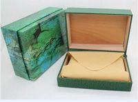 Scatole di orologio di lusso Verde con box Original Rook Box Carta Carta Portafoglio Boxes Luxury Watches