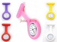 Groothandel gloednieuwe siliconen verpleegsters horloge de goedkoopste siliconen medische horloge verpleegster Horloge nuttige horloge en cadeau gratis verzending