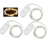 CR2032 Zellenbatterie betrieben 7FT 2M 20LED MINI LED-String-licht wasserdichte LED-Feenlicht für Party-Hochzeit
