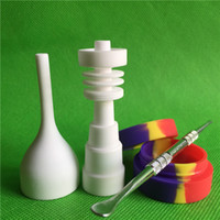 Factory Price Bongs Tool Set 10mm,14mm & 19mm 6 in 1 Male and Female Domeless Ceramic Nail with Carb Cap Slicone Jar Dabber 4 Pcs A Whole