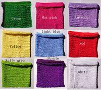 10x12inch Doublé Au Crochet Tutu Tops Mignon Couleur Crochet Tube Tops Poitrine Warp Haute Qualité Crochet Tube Tops pour Toddlers Nouvelle Arrivée CR1012