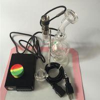 Nouveau clou pour narguilé shisha électrique dab rigs pour huile dab 110v batterie de chauffage avec titane clou verre bong silicone mats outil