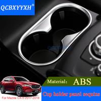 QCBXYYXH 마즈다 2 CX-5 2017 2018 ABS 내부 장식 스티커 자동 프레임 자동차 스타일링 컵 홀더 패널 기어 스팽글