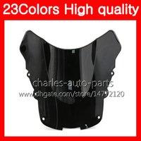 Parabrezza moto 100% nuovo per HONDA CBR1100XX Blackbird 96 97 98 99 00 01 02 03 04 05 06 07 1100XX Parabrezza nero trasparente cromato