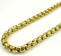 Colar Venetian da corrente da caixa do ouro amarelo 10K das mulheres dos homens 16-22 polegadas 1.5mm