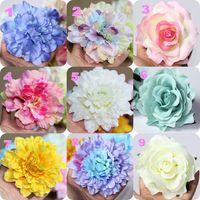 رخيصة 10 سنتيمتر الزهور الاصطناعية لوازم الزفاف ديكورات يدوية اليد زهرة الملونة بتلات شحن مجاني