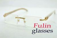 무료 배송 화이트 버팔로 호른 여성 안경 읽기 T8100905 뜨거운 판매 하프 프레임은 C 장식 사이즈 선글라스 : 54-18-140mm